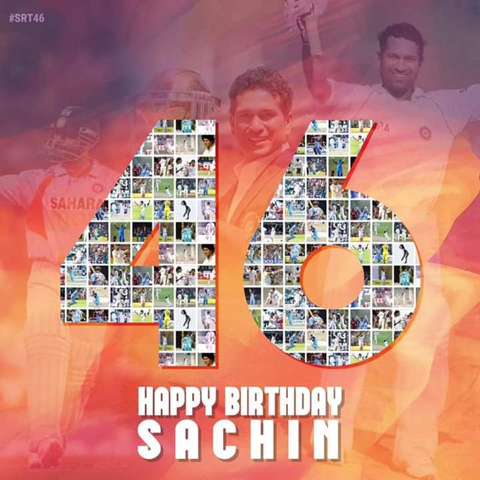 Happy birthday Sachin tendulkar  man of  hearts all indians age is just no