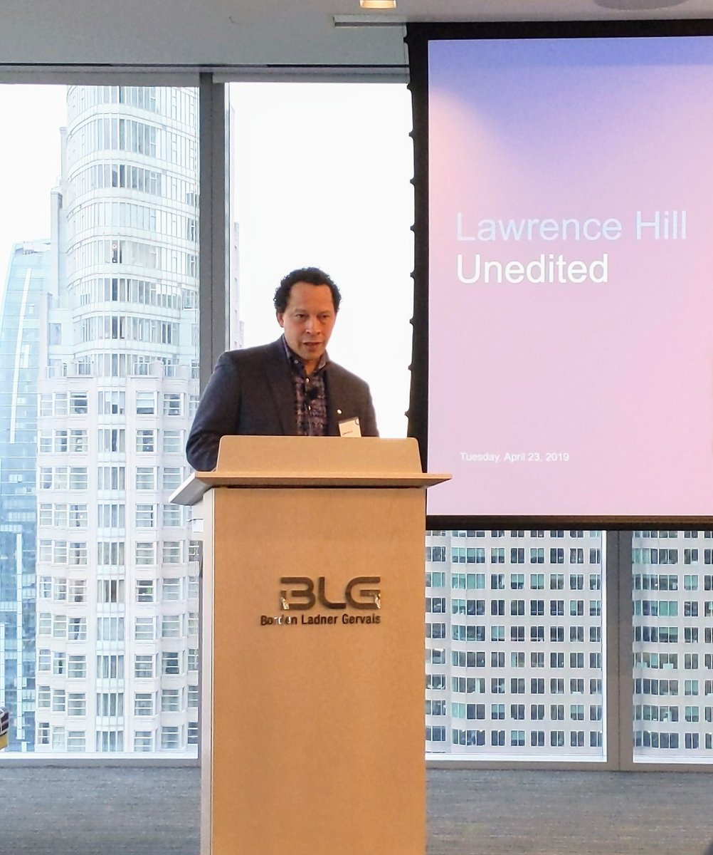Lawrence Hill reminds us of the importance of talking about an uncomfortable history to remember where we&#39;ve been and discuss where we&#39;re going, in an effort to avoid making the same mistakes. Thank you @BLGLaw for extending the discussion from #BlackHistoryMonth  beyond February! <br>http://pic.twitter.com/YC3DxcCk9k