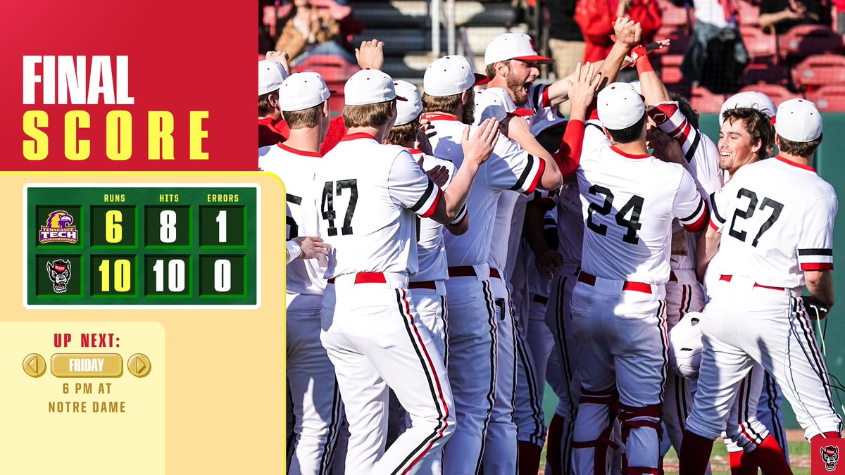 FINAL (10, 6) WOLFPACK WINS #Barger picks up his second K to end the game and we get win No. 32 of the year!   We&#39;re back in action this weekend at Notre Dame for a three-game set #gopack<br>http://pic.twitter.com/BHukzPQXjB