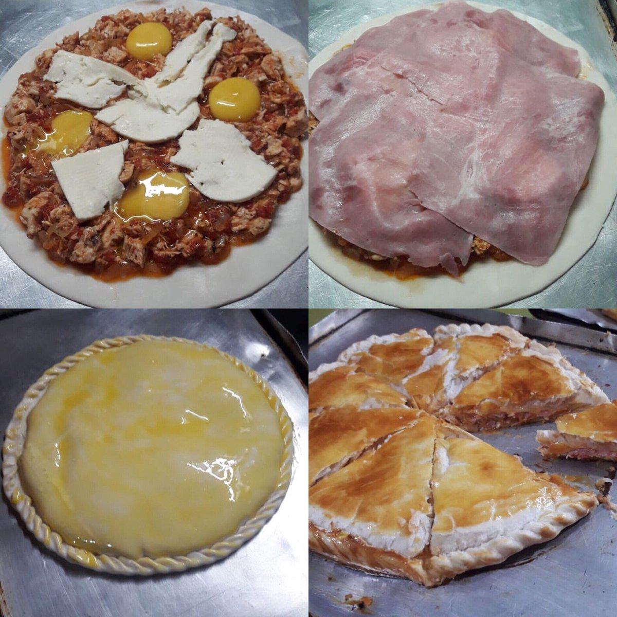 Muy pocos probaron esta delicia... tarta de pollo con salsa de pizza 🍕👏👏👏