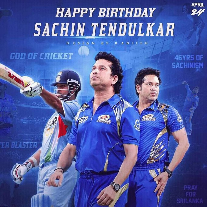 Happy Birthday to OUR CRICKET GOD TENDULKAR JIII