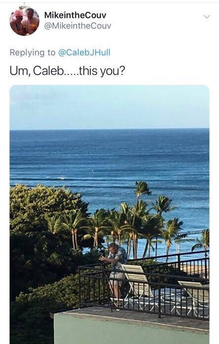 Not sure what has been more bizarre... Some guy spotting me on a rooftop in Hawaii and tweeting a picture @ me or someone I played xbox with in high school who I never knew IRL finding my twitter account...