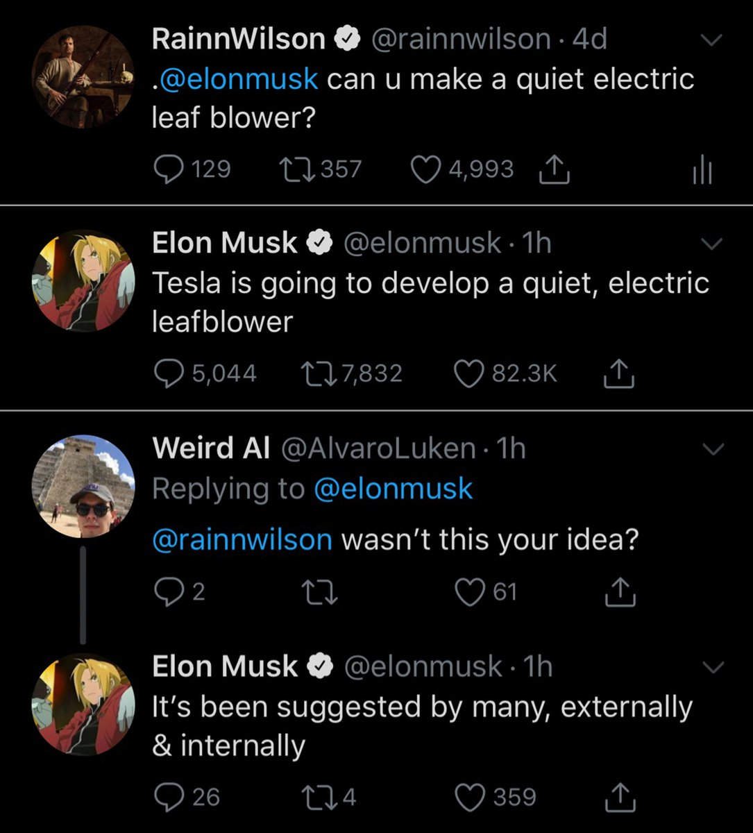 C'mon Musk, give me some credit. @elonmusk
