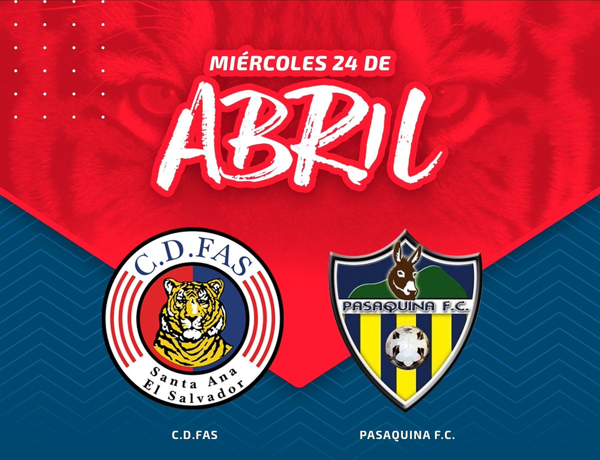 #FAS ¡Nos vemos mañana en Ahuachapán!  🆚 Pasaquina F. C. 🏟️ Estadio Simeón Magaña 🕞 3:30 pm 💲 General $2 💲 Sombra $5