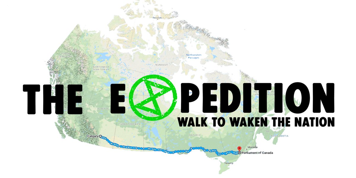 BREAKING:  #ExtinctionRebellion Calgary&#39;s Ann Cognito who is walking to Ottawa to #wakenthenation and deliver a letter to the prime minister was run off the road by a big rig. Her trailer was damaged but she&#39;s fine.  Help is on the way. Love and respect, from all of us.<br>http://pic.twitter.com/9dUsCFdpoR