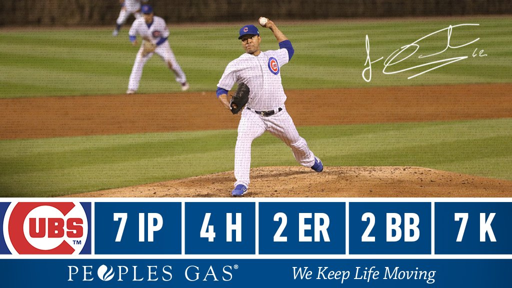 Three straight starts of 7 IP for @jose_quintana24!   #EverybodyIn  <br>http://pic.twitter.com/6betwYL9H1
