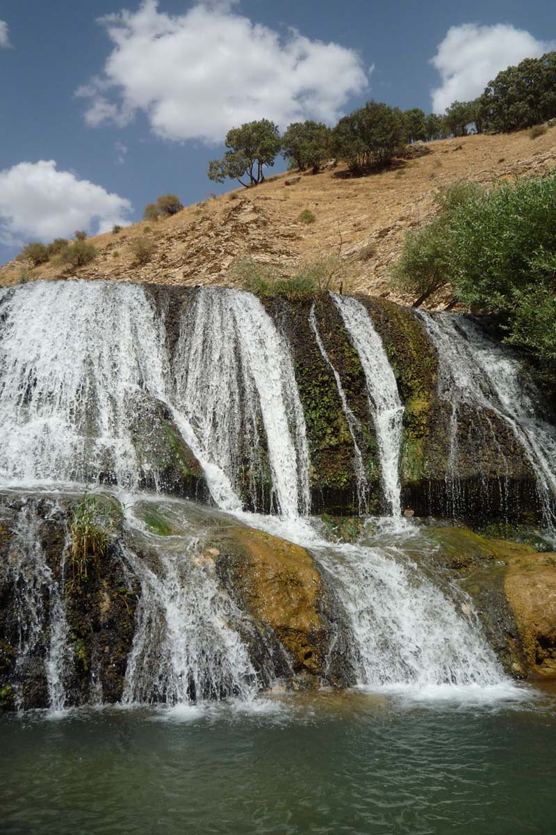 The Gerit Waterfall also known as Sarkaneh or Haft Cheshmeh