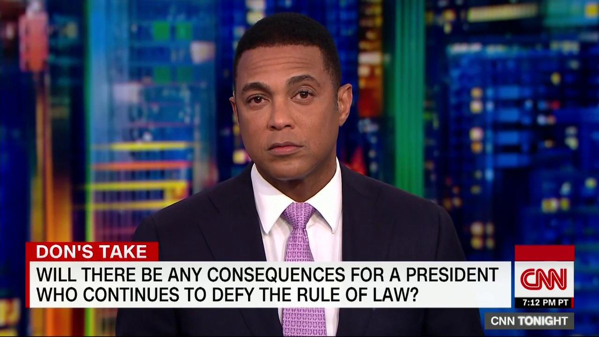 CNNs @donlemon: The Presidents strategy post Mueller: Surround himself with cheering fans, ignore lawful requests from Congress, [and] trample over democratic institutions and norms. The question is, will he get away with it? ... Will you let him get away with it?