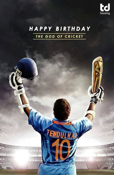 "Happy Birthday   to the Master Blaster ""SACHIN TENDULKAR\""   ......!!!!!!"