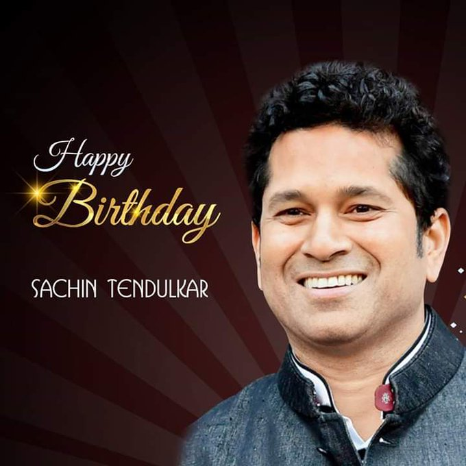 Happy Birthday Little Master Blaster Sachin Tendulkar..!!