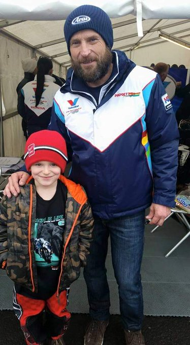 Happy Birthday to this legend   (my boy Jack & Bruce at NW200 2015)