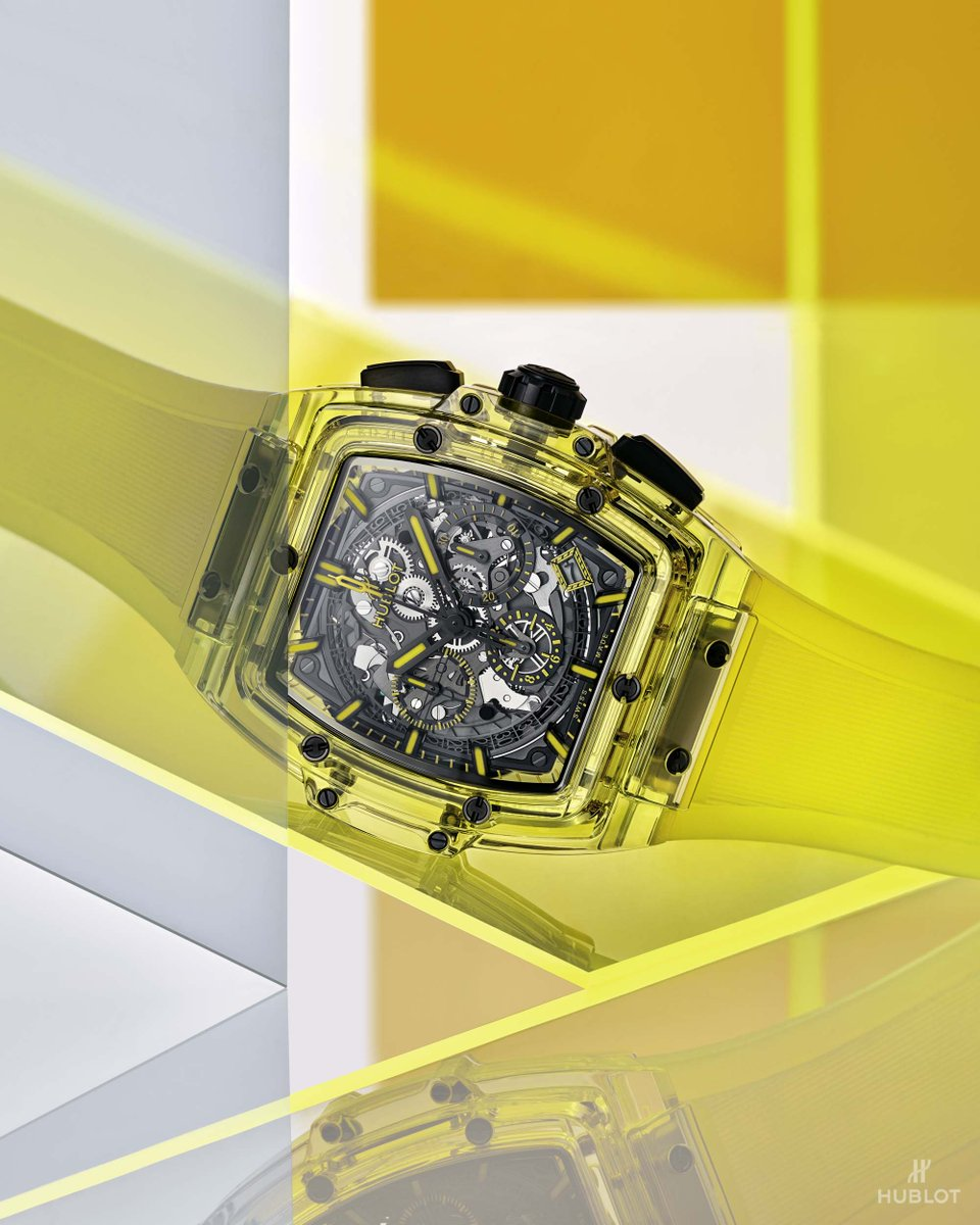 New #SpiritOfBigBang Yellow Sapphire. Limited edition of 100 pieces. #HublotSapphire https://t.co/ToTdL6OXE8