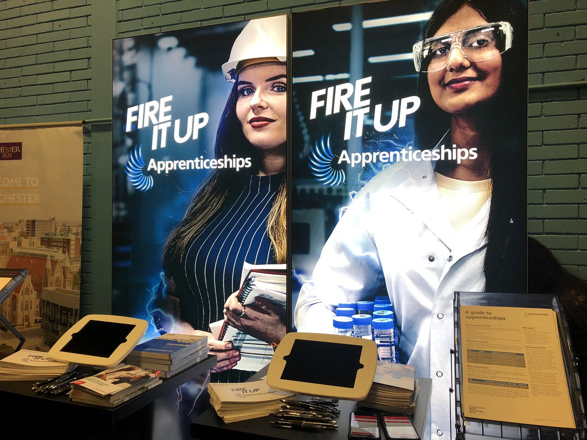 It's a #UCAS day! We're set up at Dorset UCAS exhibition ready to talk to students, parents, and teachers! We're stand number 64....come say hello and chat to us about apprenticeships! @Apprenticeships @ucas_online #FireItUp
