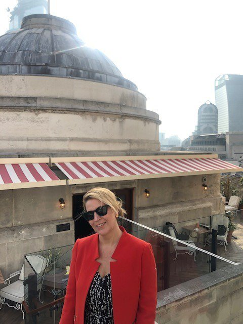 Our CEO, Tamara Gillan, catching the morning rays on the @TheNedLondon rooftop following an insightful breakfast with @Forbes and @wealthiher founding partners