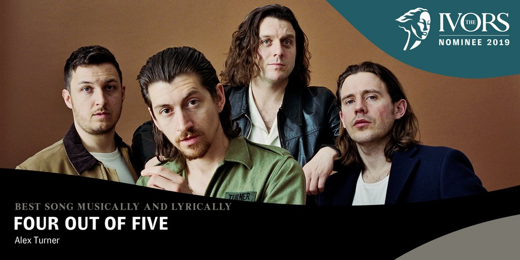 ⚡️#TheIvors Best Song Musically and Lyrically⚡️ Congratulations to Alex Turner who has been nominated for an Ivor Novello Award for 'Four Out Of Five' https://t.co/FbADsXoy0a