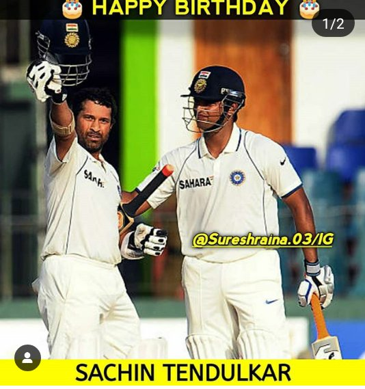 Happy Birthday Sachin Tendulkar congratulation