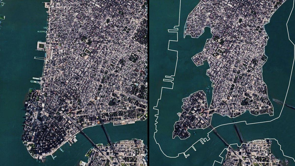 Year 2100: redrawing the world's coasts. #Climatechange will cost cities theverge.com/2019/4/23/1851… @Verge