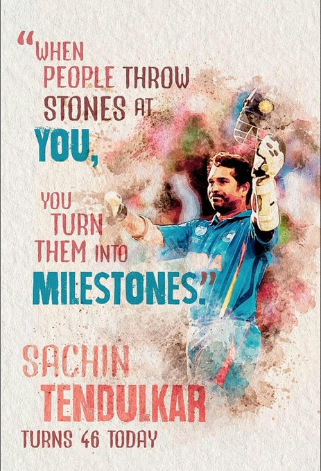 Happy Birthday THE Great Sachin Tendulkar. May God  Blessed You