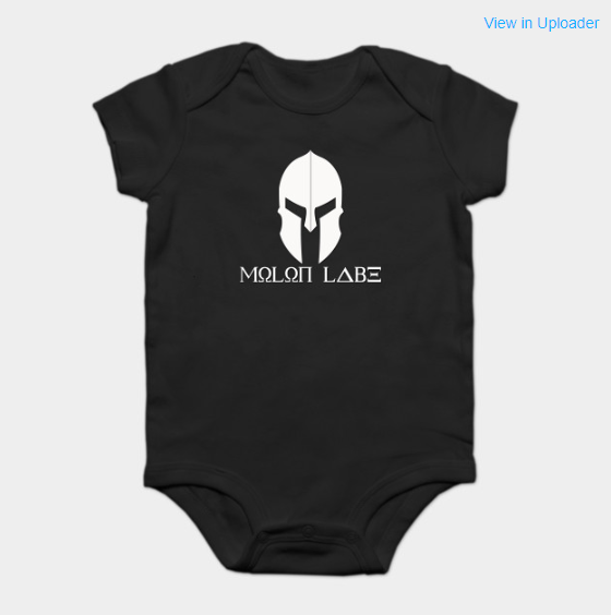 When the babysitter demands you give them back your pacifier! 😅  #MolonLabe  Get your baby a onsie ==> https://www.teepublic.com/onesie/3915636-molon-labe …