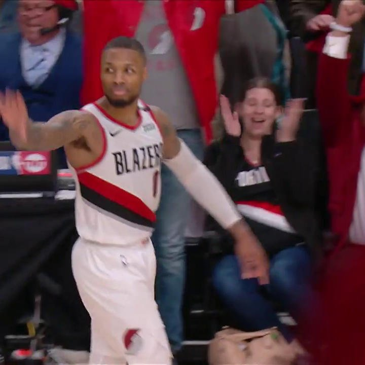 DAME WAVED GOODBYE TO OKC AFTER DRILLING THE GAME-WINNER! 👋👀