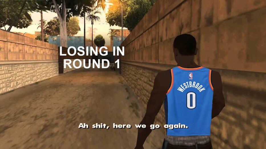 Y'all gotta chill! Damn Russell Westbrook really took this L. #DameTime