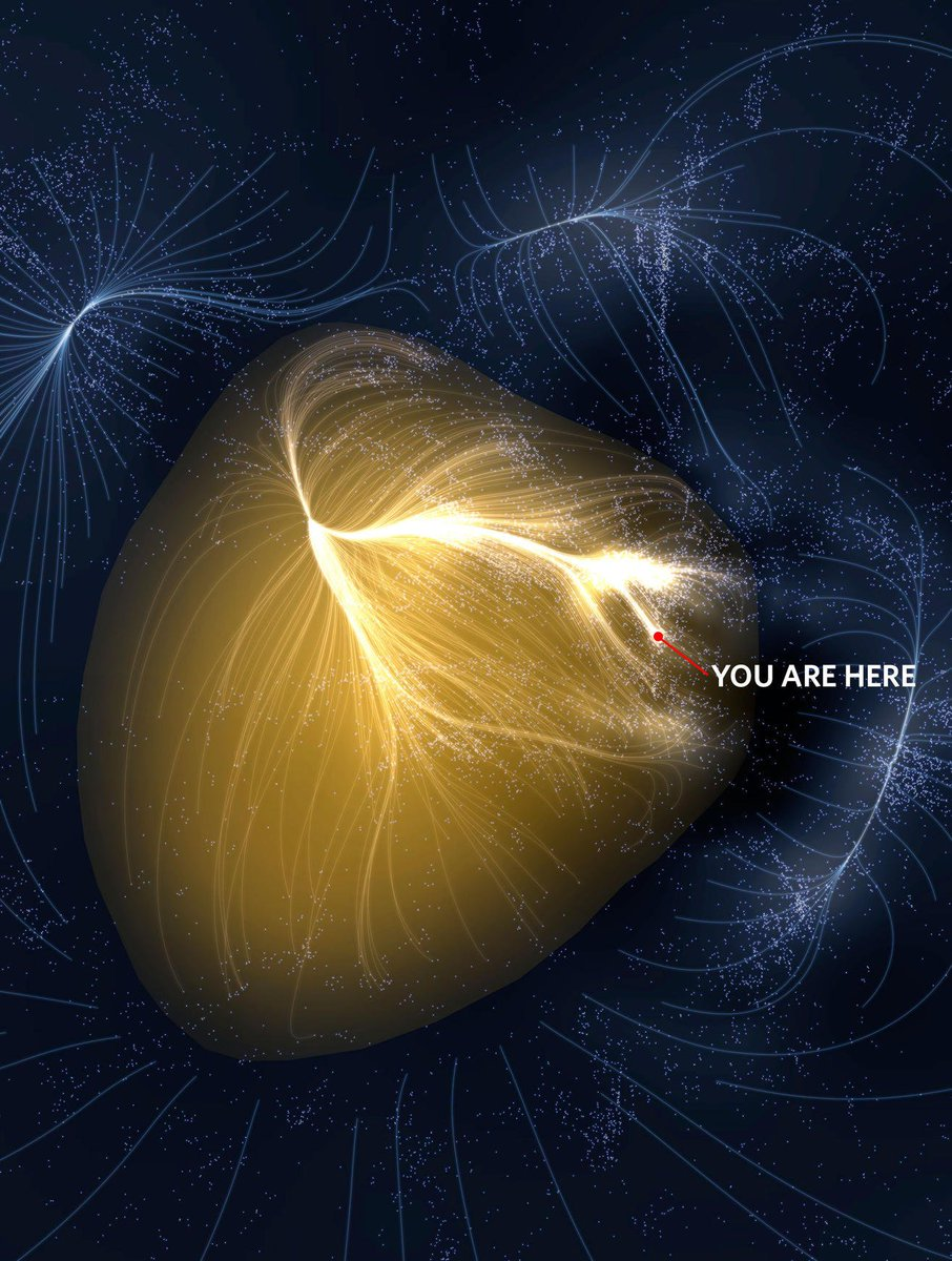 A visualisation of our place in the supercluster Laniakea. 💫 Credit: Mark A. Garlick/markgarlick.com