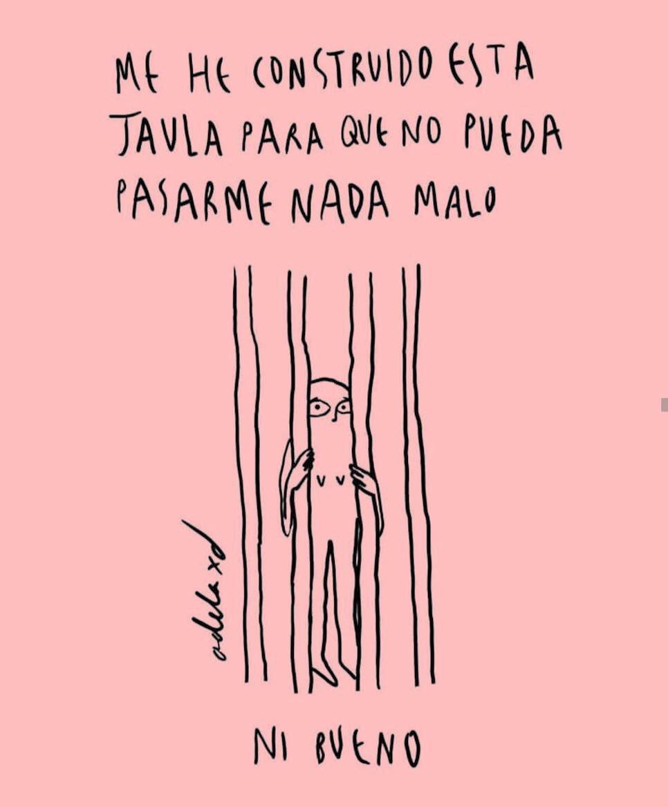 "Fátima Psicóloga on Twitter: ""Me he construido esta #jaula para que no pueda  pasarme nada malo... ¡ni bueno...!… """