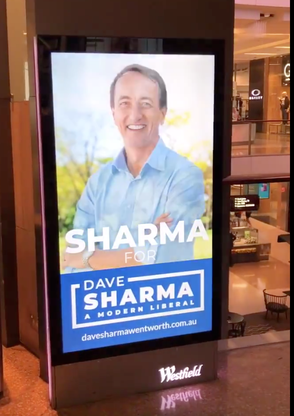 &quot;SHARMA for Dave Sharma&quot;  finally, some truth in political advertising!  come on @JoshFrydenberg, when are we going to see a &quot;JOSH for Josh Frydenberg&quot; ad?  #KooyongVotes<br>http://pic.twitter.com/KYhF3HTYw3