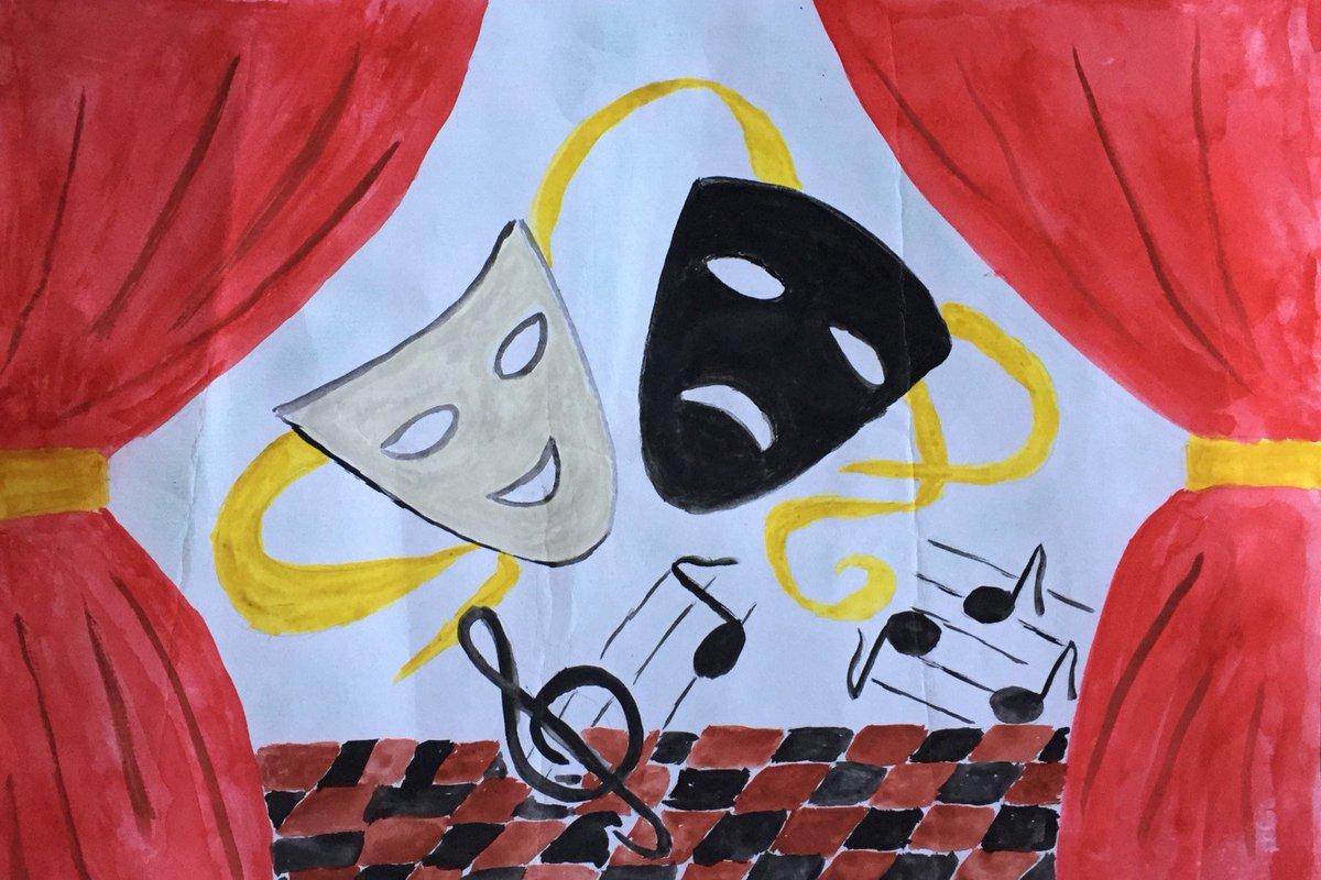 Рисунок о походе в театр