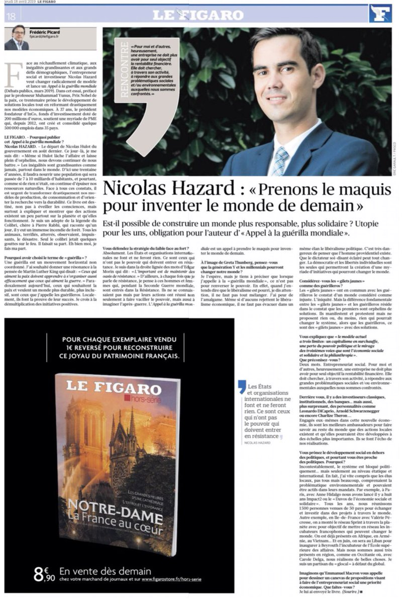 Mon interview au Figaro>> il est urgent de construire un monde un monde plus responsable et plus solidaire ♻️🤝🚨