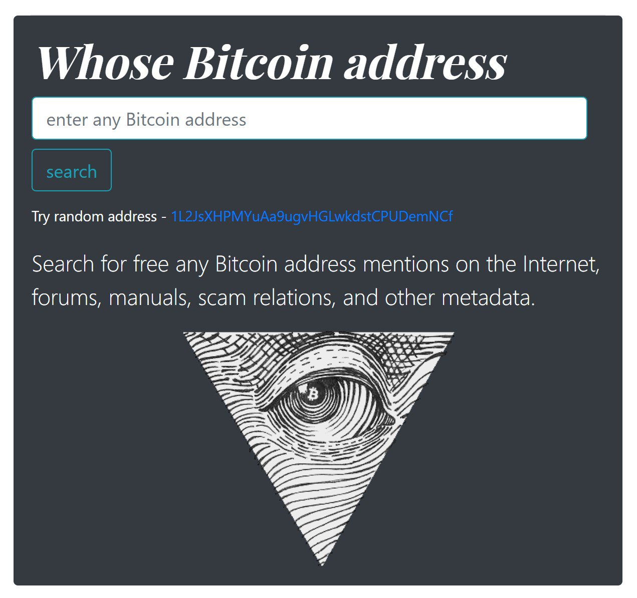 Bitcoin address analyzer - The Bitcoin Forum