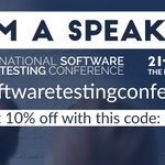 Image for the Tweet beginning: Join me at the #NationalTestConf