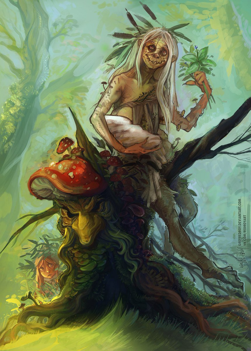 Картинки про кикимору болотную