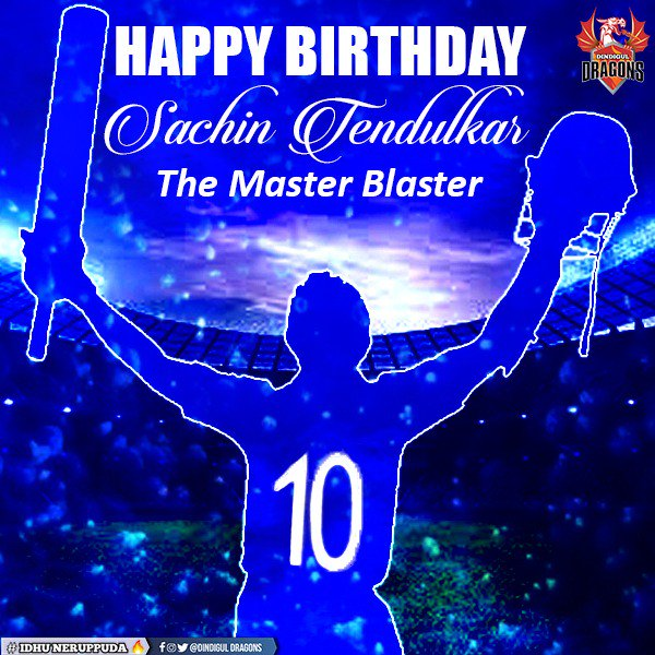 Wishing Master Blaster Sachin Tendulkar a very happy birthday