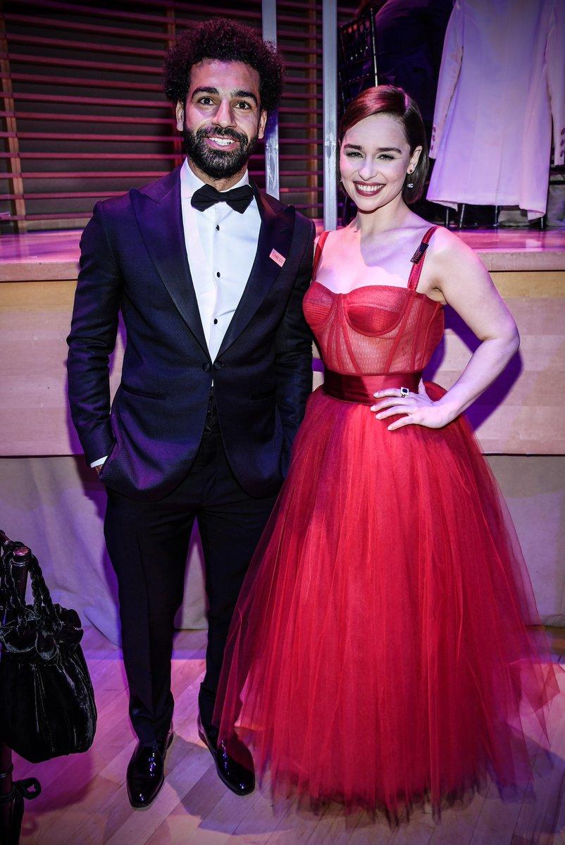 The Egyptian King and Queen Daenerys 👑 @MoSalah x Emilia Clarke