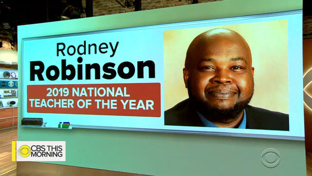 CBS This Morning's photo on National Teacher of the Year
