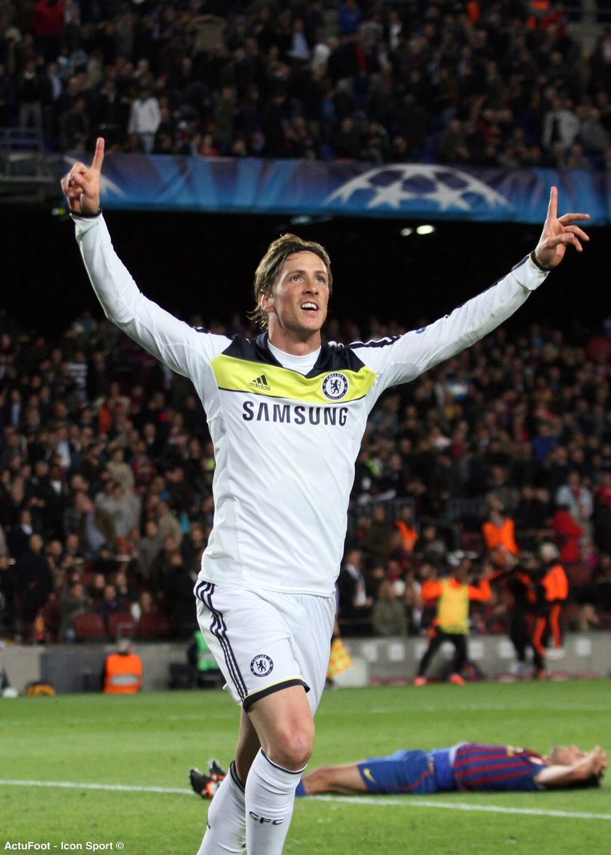 Il y a 7 ans jour pour jour, Fernando Torres envoyait Chelsea en finale de la Ligue des Champions après un but d'anthologie contre Barcelone. 😍
