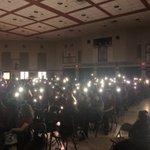 Image for the Tweet beginning: @BishopReding student-organizers lighting lamps and