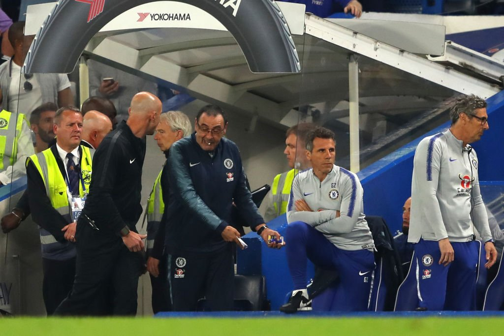 BREAKING: @ChelseaFC head coach Maurizio Sarri has been charged with misconduct over his behaviour in the closing minutes of Monday&#39;s Premier League game against Burnley. #SSN  More:  http:// skysports.tv/SmtKFn  &nbsp;  <br>http://pic.twitter.com/QKzutJ2wGN