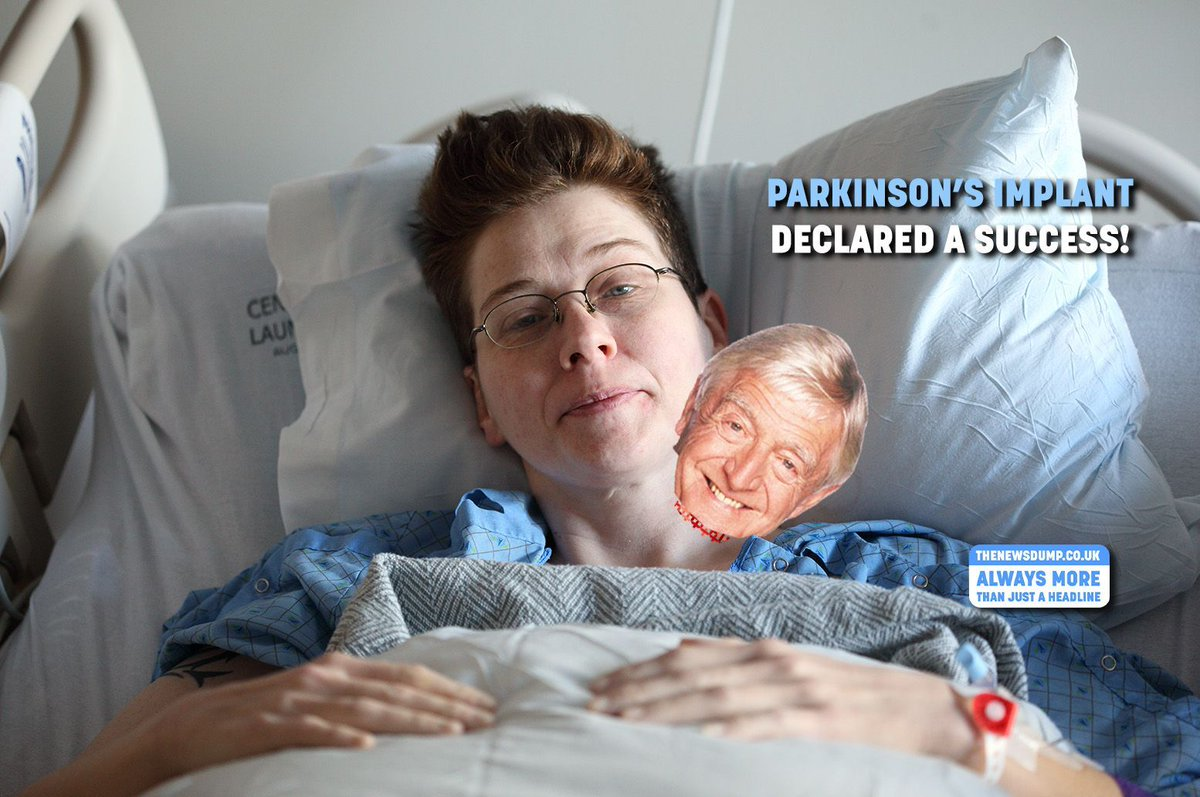#Parkinson's Implant a partial success. Patient can walk – but now won't stop banging on about #GeorgeBest, #MuhammadAli and #Barnsley.  https:// buff.ly/2W3Oplp  &nbsp;   #NHS<br>http://pic.twitter.com/E9W8FVtc7r
