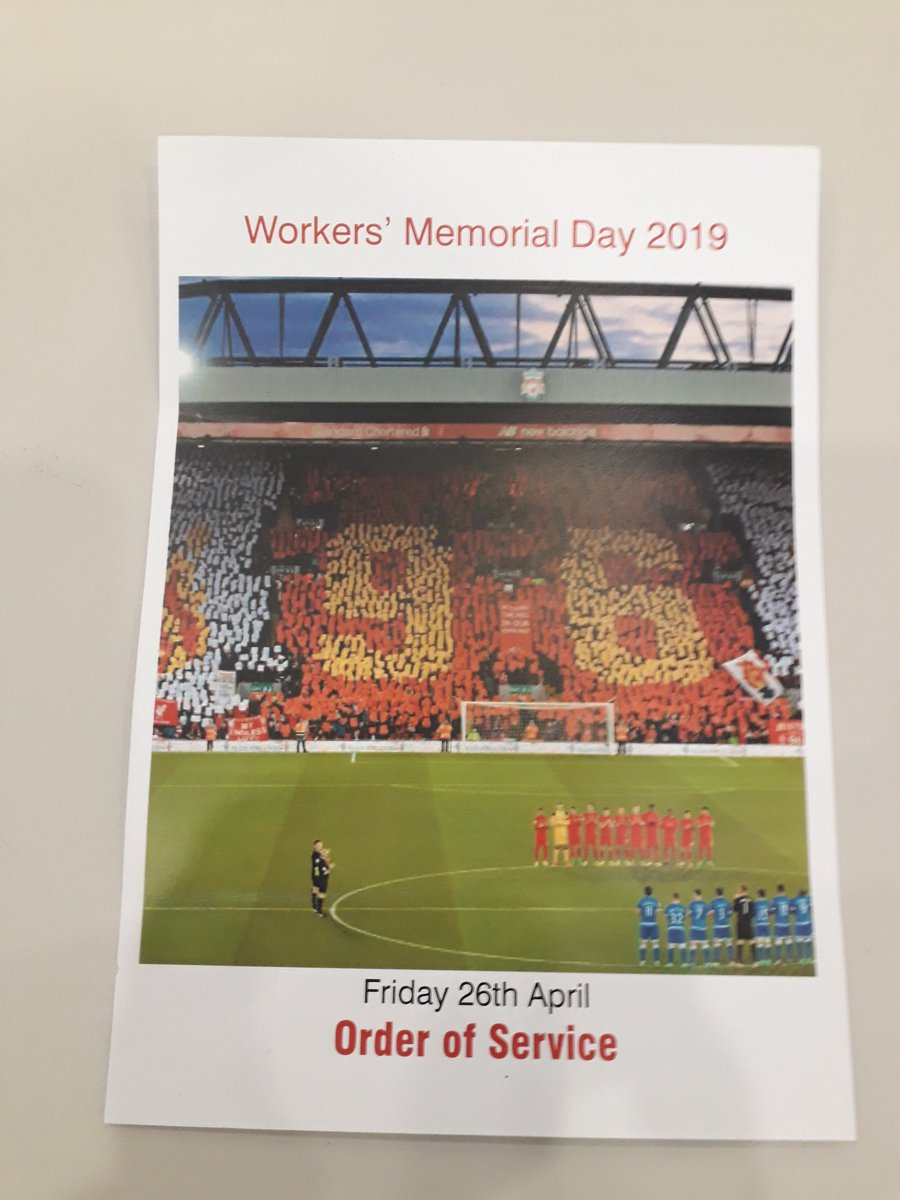 A key part of @hartlepoolfes RESPECT and health & safety work is our annual Workers Memorial Day service. This is our 10th service & this year we focus on the Hillsbrough disaster which marks its 30th anniversary #JFT96