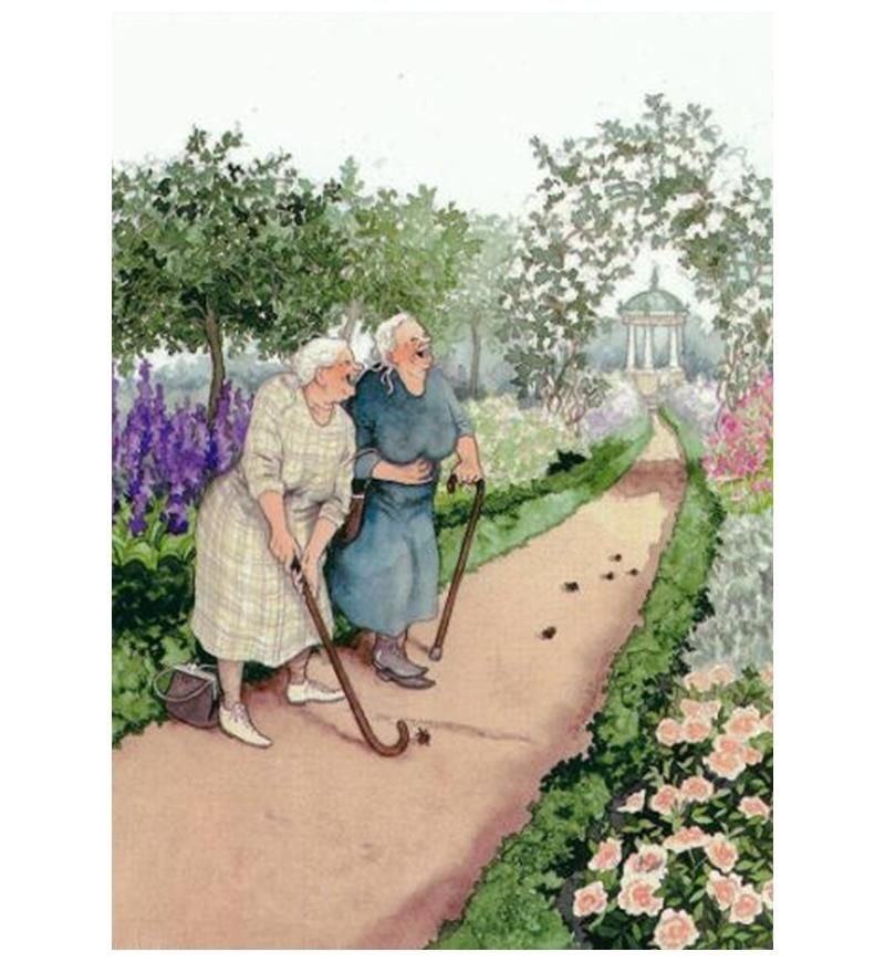 Inge Look's Grannies in case you've never seen this pair of reprobates! We love them really, they are always happy.