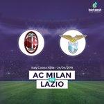 Image for the Tweet beginning: Coppa Italia presents @acmilan 🆚 @OfficialSSLazio Tonight