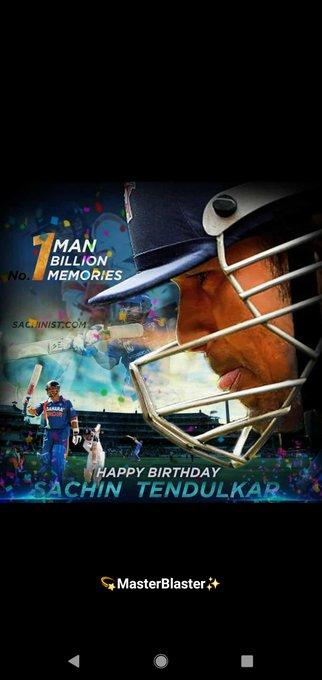 Happy birthday Sachin Tendulkar...