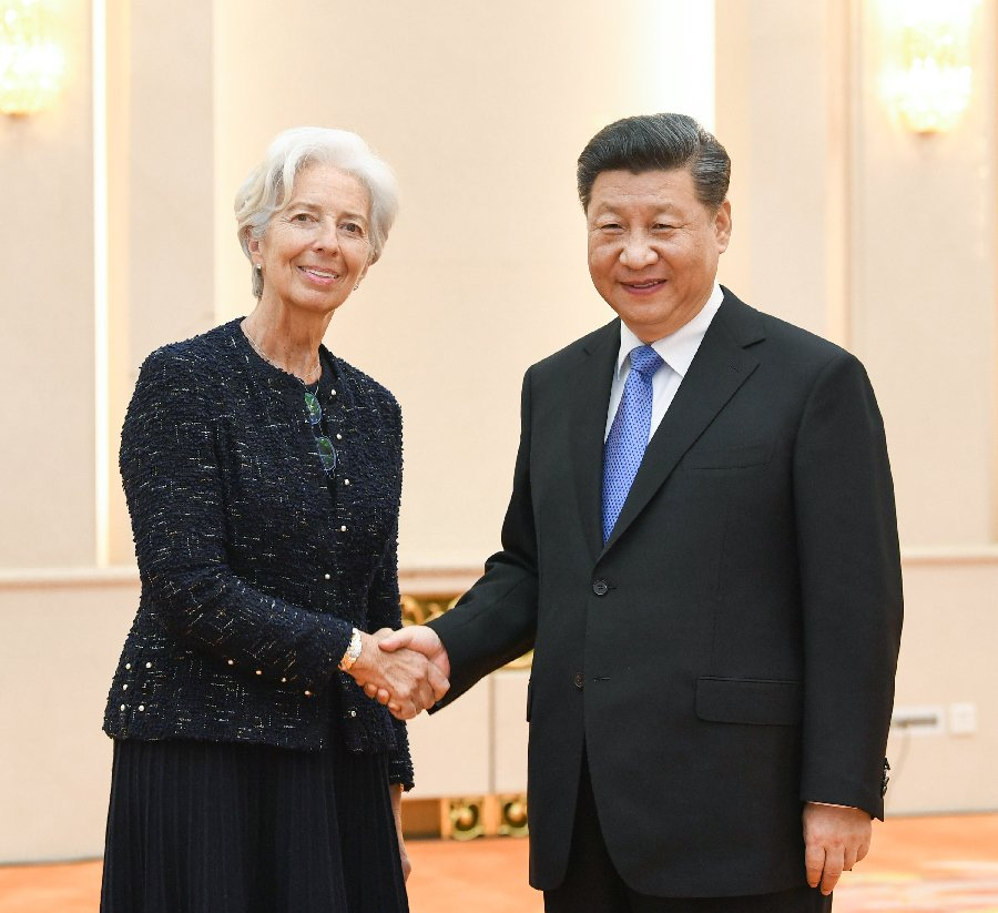 China Xinhua News's photo on Christine Lagarde