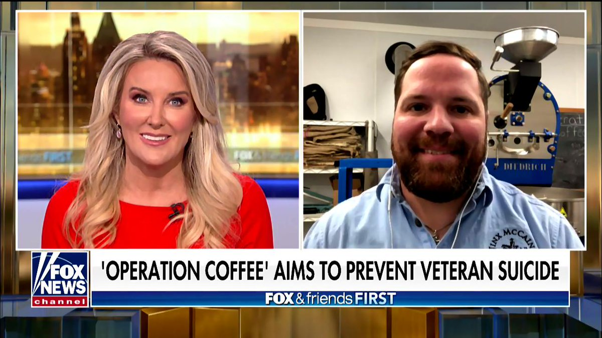 &#39;Operation Coffee&#39; aims to help combat vet suicide. Marine Corps veteran Sam Floyd donates part of the proceeds of his small-batch coffee roasting operation toward veterans&#39; suicide prevention. @FoxFriendsFirst at 4am with @HeatherChilders &gt; https:// video.foxnews.com/v/602936420100 1/?playlist_id=1484128321001#sp=show-clips &nbsp; …  #firstatfour<br>http://pic.twitter.com/jcG1r9LpuF