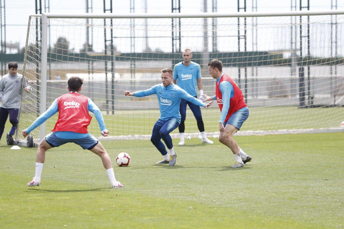 Entrenamiento del FC Barcelona.