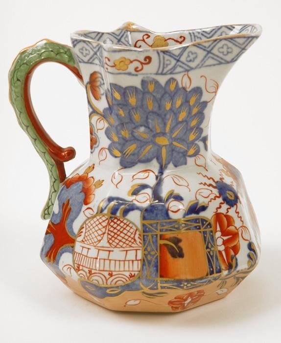 Imari Davenport Stone China Hydra Jug. From Ruby Lane Vintage. A good site of you like old things...