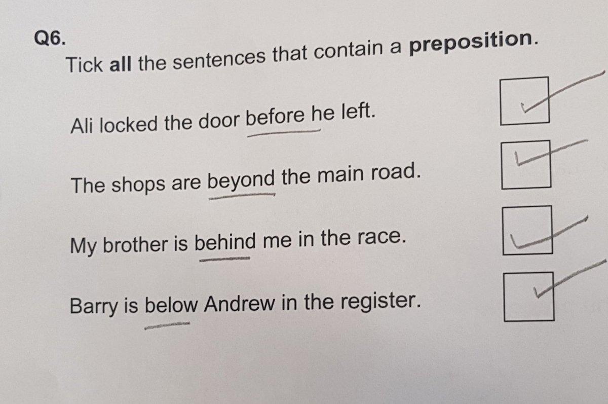 Marking scheme primary school