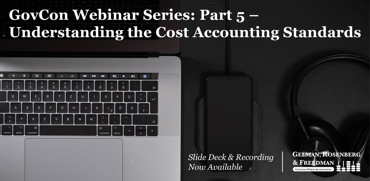 If you missed the final installment of the #GovCon #webinar series, you can download the slide deck and listen to the recording now! Come away with a better understanding of the applicability of #CostAccountingStandards. #CAS #CASB  http:// ow.ly/R3cQ50rkXK2  &nbsp;  <br>http://pic.twitter.com/7rPg6HTbgm